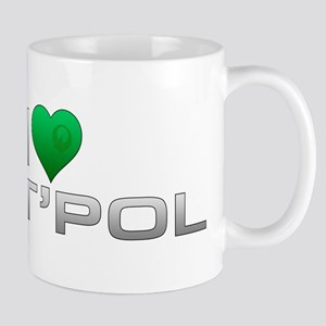 I Heart T'Pol - Green Heart Mug