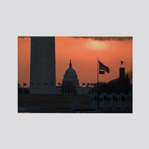 Capitol Sunrise Rectangle Magnet