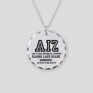 AIRPORT CODES - AIZ - KAIZER Necklace Circle Charm