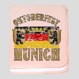 OKTOBERFEST Munich Distressed baby blanket