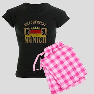 OKTOBERFEST Munich Distressed Women's Dark Pajamas