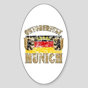 OKTOBERFEST Munich Distressed Sticker (Oval)
