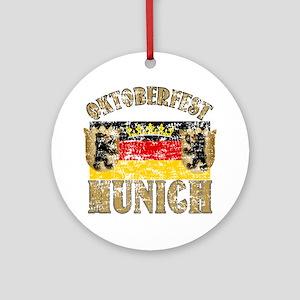 OKTOBERFEST Munich Distressed Ornament (Round)