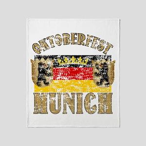 OKTOBERFEST Munich Distressed Throw Blanket