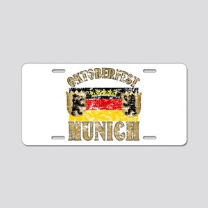 OKTOBERFEST Munich Distressed Aluminum License Pla