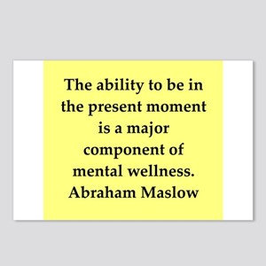 Abraham Maslow quotes Postcards (Package of 8)