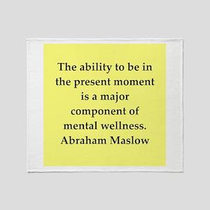 Abraham Maslow quotes Throw Blanket