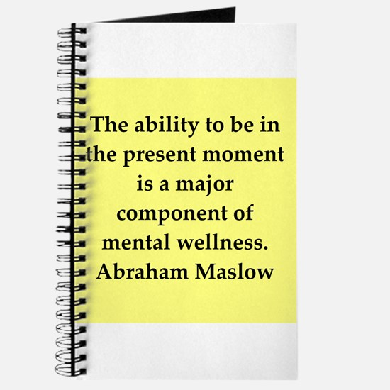 Abraham Maslow quotes Journal