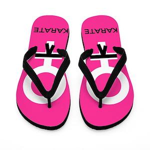 62910b50458fc2 Martial Arts Girl Flip Flops - CafePress