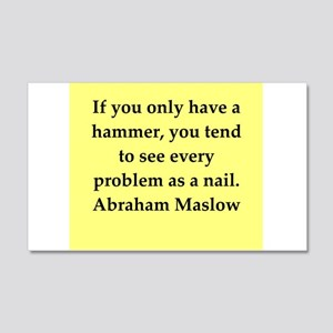 Abraham Maslow quotes 22x14 Wall Peel