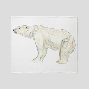 polar bear night Throw Blanket