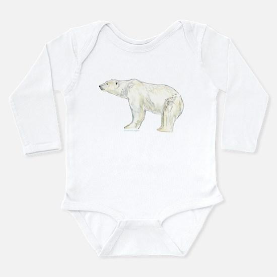 polar bear night Long Sleeve Infant Bodysuit