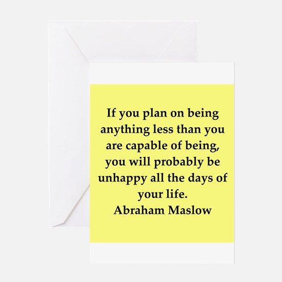 Abraham Maslow quotes Greeting Card