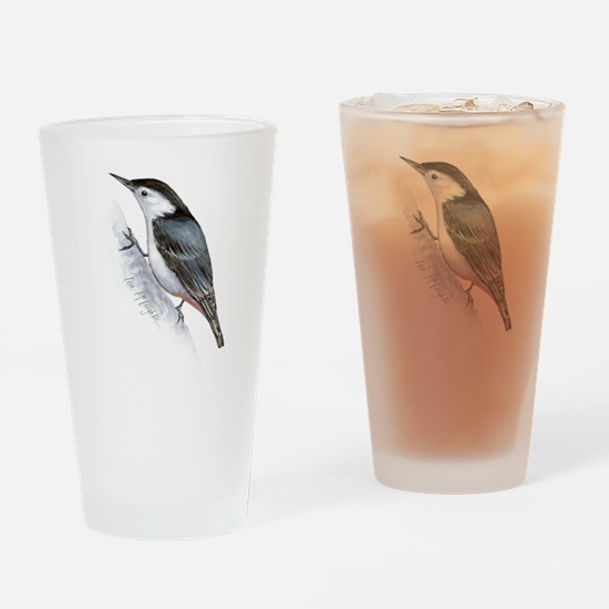little nuthatch Drinking Glass