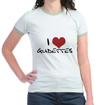 I Heart Guidettes Jr. Ringer T-Shirt