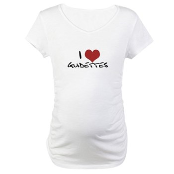 I Heart Guidettes Maternity T-Shirt