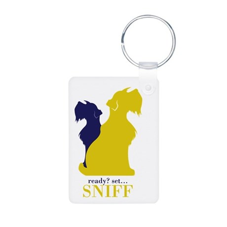 Mini Schnauzer Dog Lover Gifts Aluminum Keychain