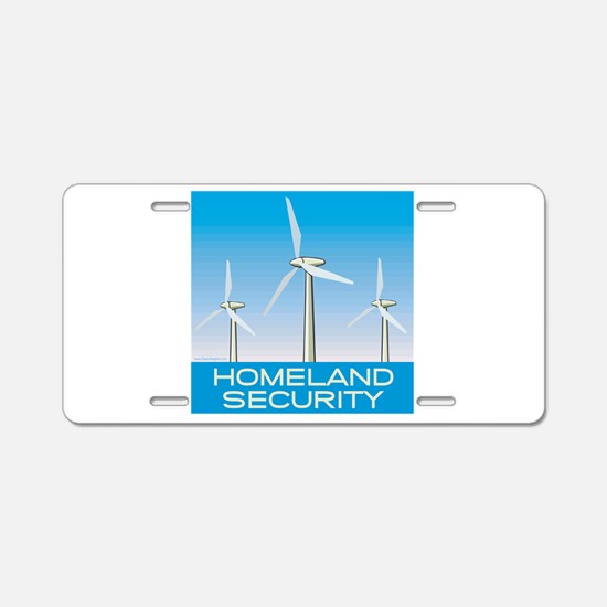 Wind Power America Aluminum License Plate