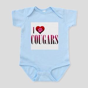 I Heart Cougars Infant Bodysuit