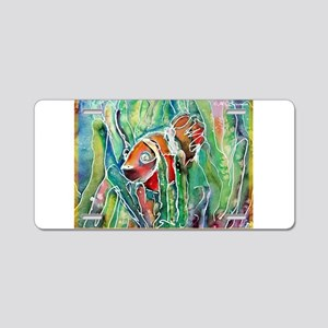 Clownfish, bright, art, Aluminum License Plate