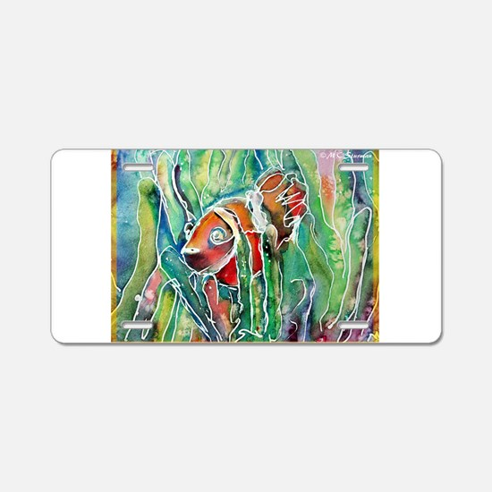 Clownfish, bright, art, Aluminum License Plate