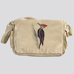 handsome pileated woodpecker Messenger Bag