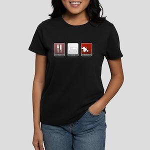 Eat Sleep Dexter Women's Dark T-Shirt
