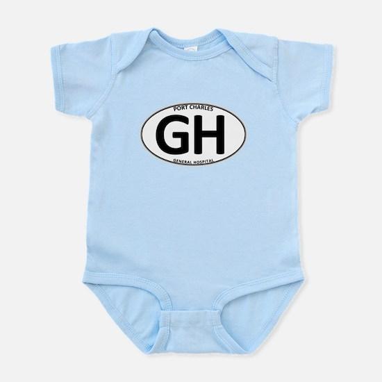 General Hospital - GH Oval Infant Bodysuit