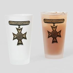 sharpshooter medal Drinking Glass