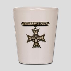 sharpshooter medal Shot Glass