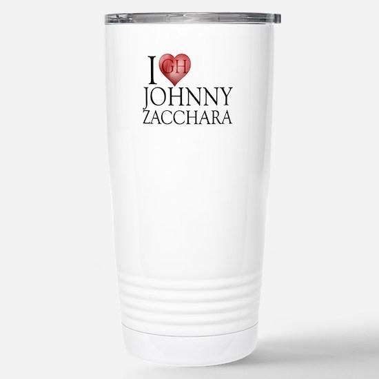 I Heart Johnny Zacchara Stainless Steel Travel Mug