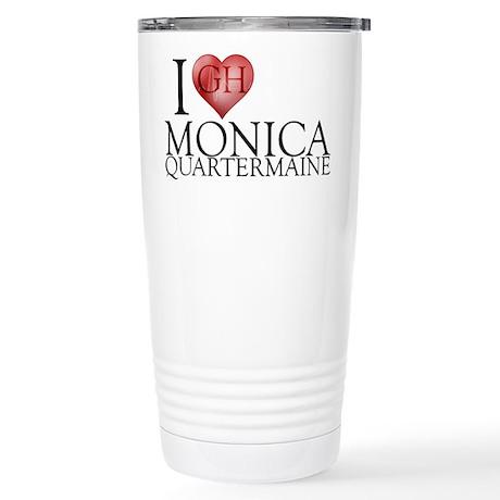 I Heart Monica Qu 16 oz Stainless Steel Travel Mug