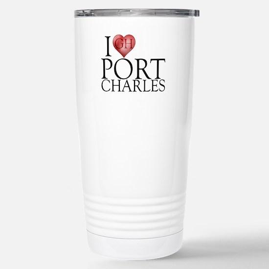 I Heart Port Charles Stainless Steel Travel Mug