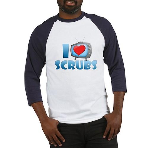 I Heart Scrubs Baseball Jersey
