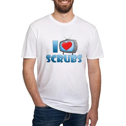 I Heart Scrubs Fitted T-Shirt