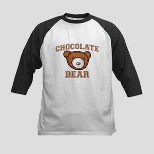 Chocolate Bear Kids Baseball Jersey