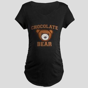 Chocolate Bear Maternity Dark T-Shirt