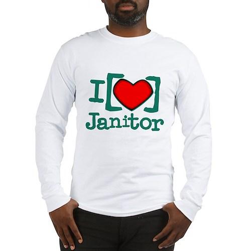 I Heart Janitor Long Sleeve T-Shirt