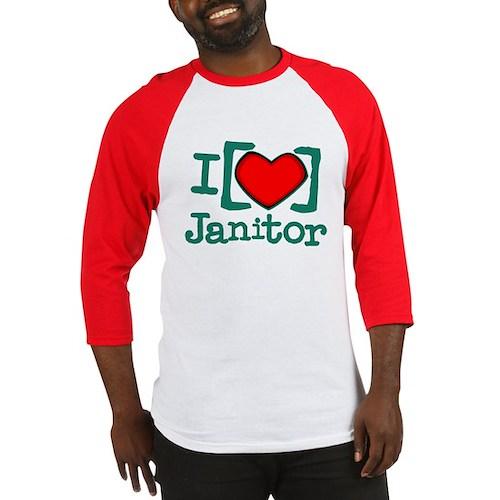 I Heart Janitor Baseball Jersey