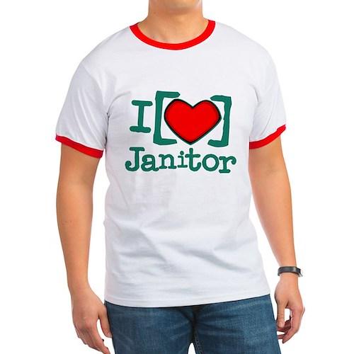I Heart Janitor Ringer T