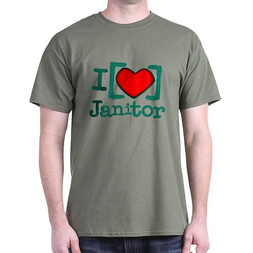 I Heart Janitor Dark T-Shirt