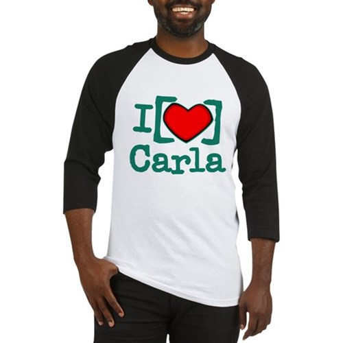 I Heart Carla Baseball Jersey