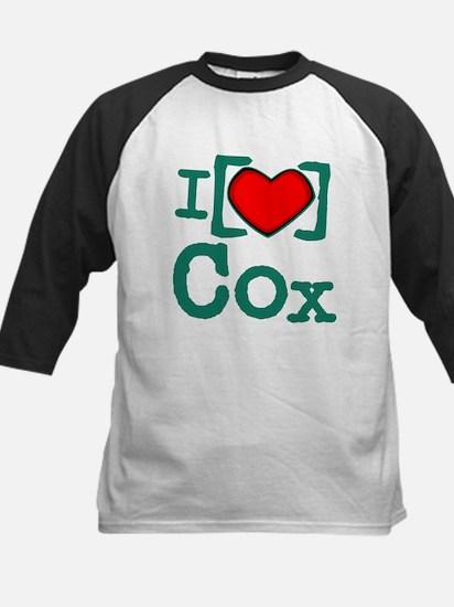 I Heart Cox Kids Baseball Jersey