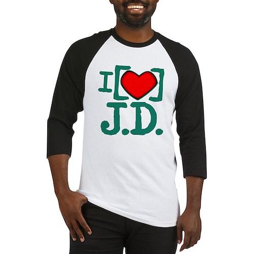 I Heart J.D. Baseball Jersey