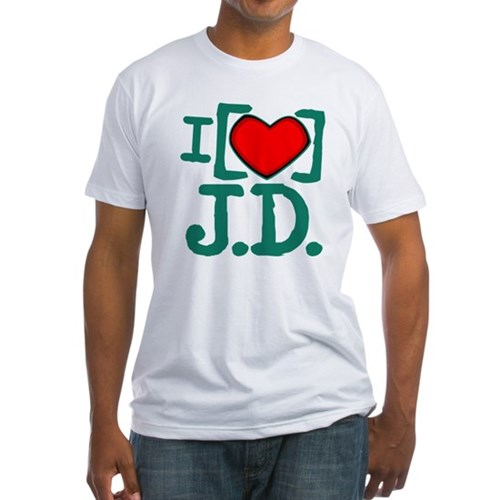 I Heart J.D. Fitted T-Shirt
