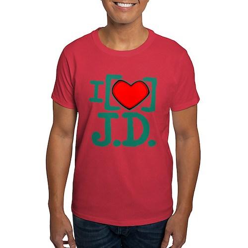 I Heart J.D. Dark T-Shirt