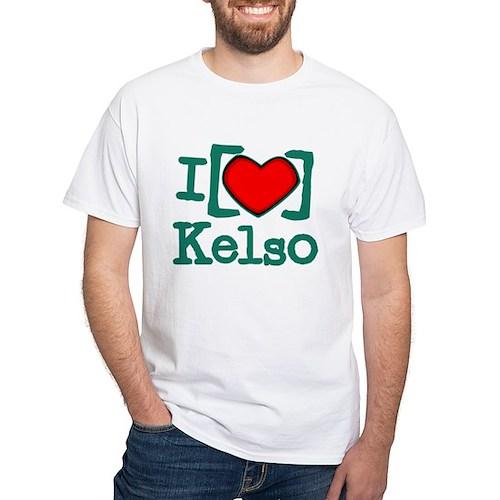 I Heart Kelso White T-Shirt