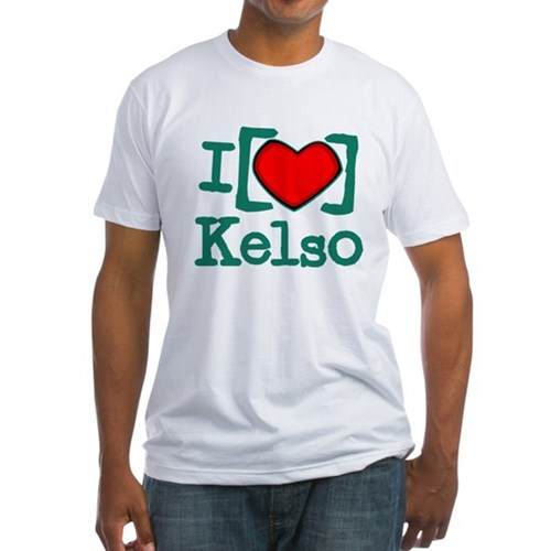 I Heart Kelso Fitted T-Shirt