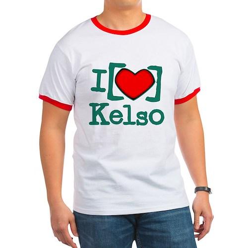 I Heart Kelso Ringer T