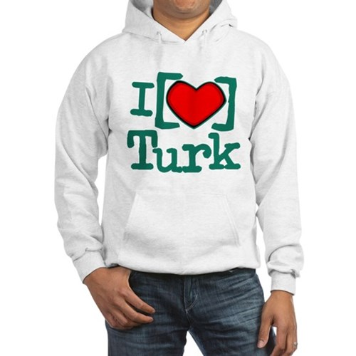 I Heart Turk Hooded Sweatshirt